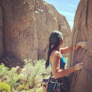 Climbing in beautiful Owens River Gorge