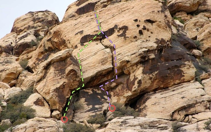Rock Climbing Photo: The Area. 'If I Could Frame a Fart,' in green. 'He...