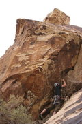 Rock Climbing Photo: Ryan Leigh, leaving the slab/slot and about to get...