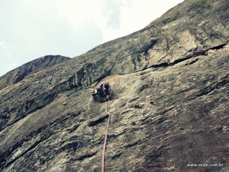 Rock Climbing Photo: First 5.10b/c crux
