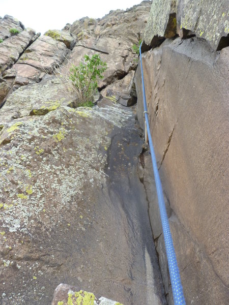 Rock Climbing Photo: Looking up the dihedral on the right start.