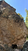 Rock Climbing Photo: 1st bolt and anchors marked