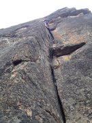 Rock Climbing Photo: Caden in the crack.