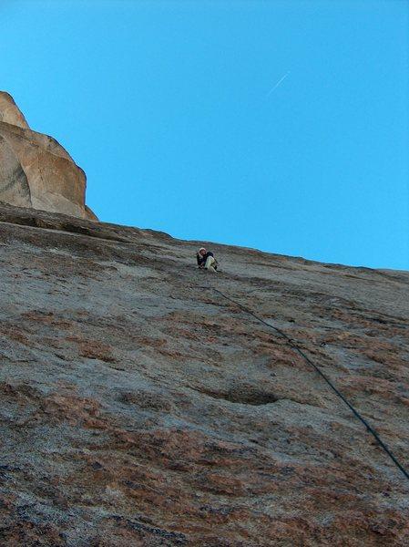Rock Climbing Photo: On FA in Fall 2007