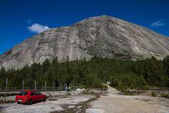 Rock Climbing Photo: haegfjell south face