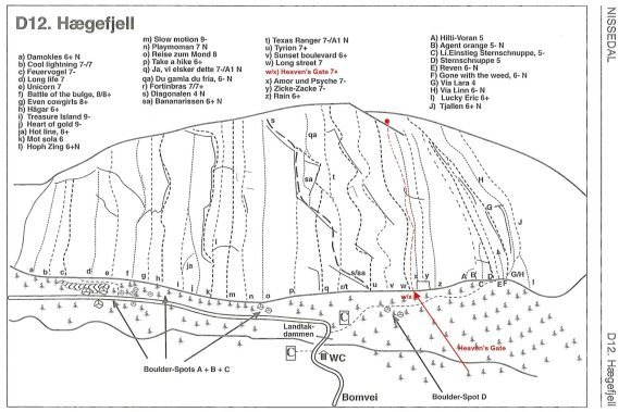 routes on haegefjell