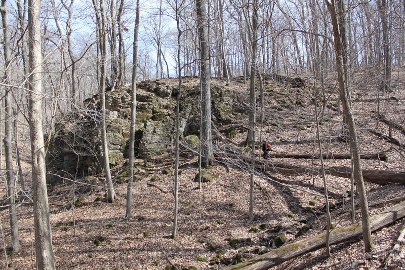 Rock Climbing Photo: Early Springtime view of Pequod from the trail tha...