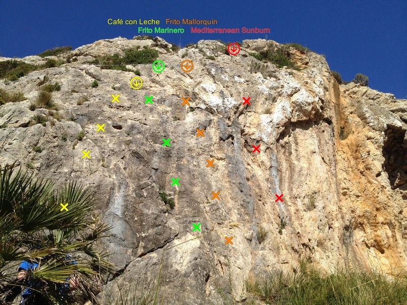 Rock Climbing Photo: Route beta on Warm-up Wall