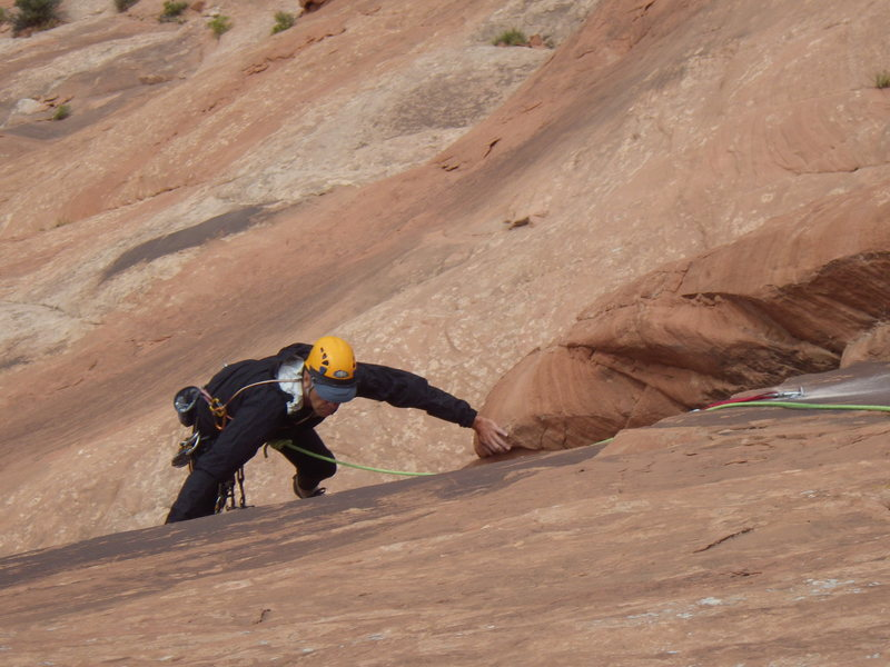 Rock Climbing Photo: stepping into the corner