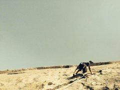 Rock Climbing Photo: 5.6 lay back