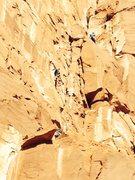 Rock Climbing Photo: 2nd pitch- buddy following