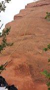 Rock Climbing Photo: Fun climb following the Arete up the slab.  Lots o...