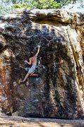 Rock Climbing Photo: Favorite problem to run laps on.