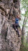 Rock Climbing Photo: Finishing up the bottom half of False