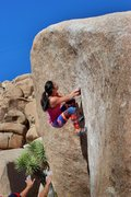 Rock Climbing Photo: Setting up for the last move on The Chube (Natalie...