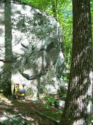 Rock Climbing Photo: Same boulder from another angle showing some of th...
