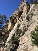 Rock Climbing Photo: Morning sun on Sid Vicious and The Ramp.  Sid Vici...