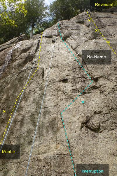 Rock Climbing Photo: Menhir Interruption Sans-Nom 588