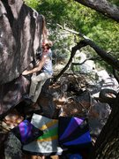 Rock Climbing Photo: yup, satermo sticking the huck