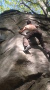 Rock Climbing Photo: Chimney rock bouldering