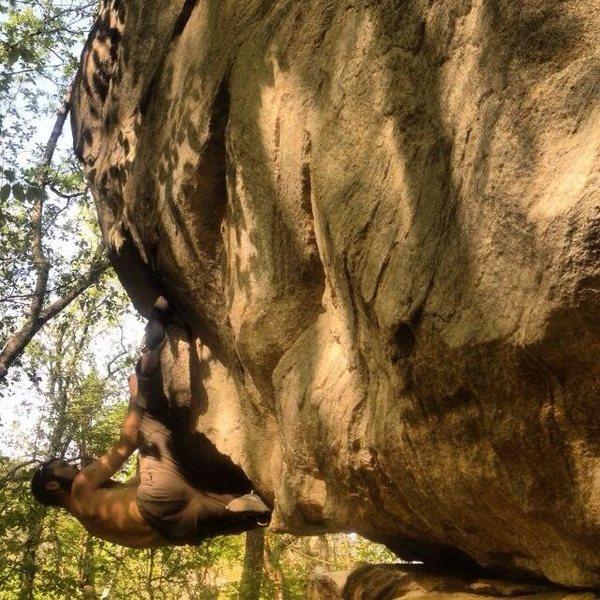 Rock Climbing Photo: Chimney rock bouldering