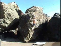Rock Climbing Photo: Yuji's Dyno (after sticking the throw).