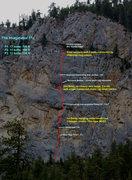 Rock Climbing Photo: The Imaginator 11c, topo