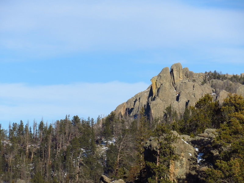 As seen from Lost Cabin Trail junction