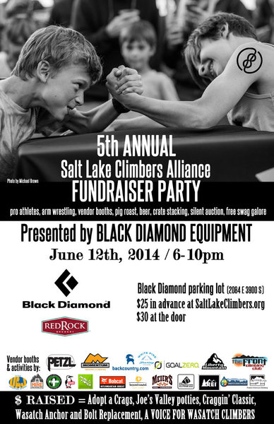 Rock Climbing Photo: SLCA Fundraiser Party