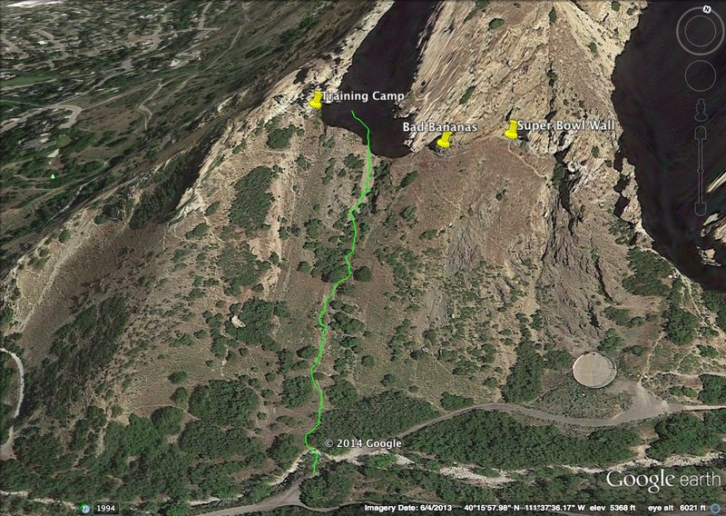 Rock Climbing Photo: To Bad Bananas, Training Camp, and Super Bowl