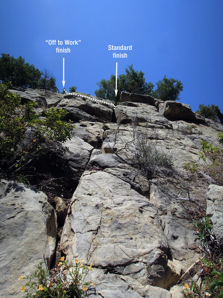 "Rock Climbing Photo: The upper section of ""What Dumbasses!"" s..."