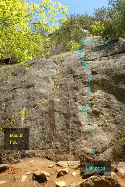 Rock Climbing Photo: Maudit Fou Lollypops
