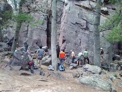 Rock Climbing Photo: Devils Lake, Misery Rock May 18, 2014
