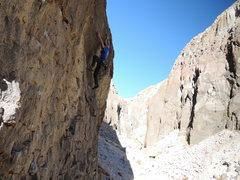 Rock Climbing Photo: setting up beneath the crux
