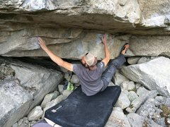 Rock Climbing Photo: Mr. K on the opening move..