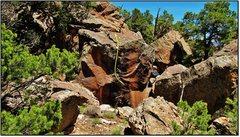 Rock Climbing Photo: Problem beta for Quantum Thrust.