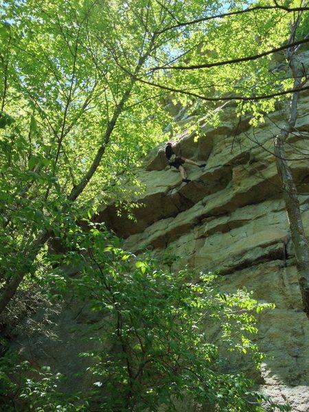 Rock Climbing Photo: The final overhang