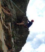 Rock Climbing Photo: Hanging on the big, creaky flake