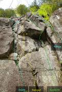 Rock Climbing Photo: Le Diedre Le Rampart Le Surplomb La Rampe 597