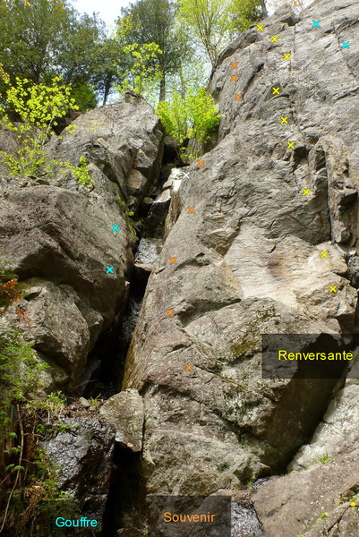 Rock Climbing Photo: Le Gouffre Souvenir Renversante 598