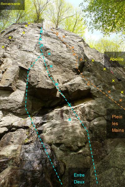 Rock Climbing Photo: L'Entre Deux Plein les Mains 601