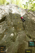 Rock Climbing Photo: Plein les Mains L'Abeille Beding Bedang Sortie du ...