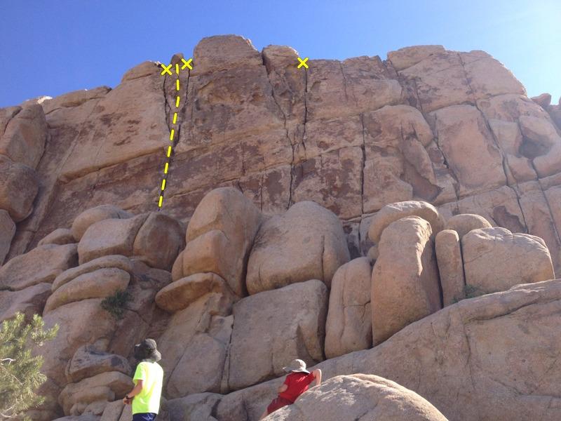Rock Climbing Photo: Almost Vertical is Left Vertical Crack.