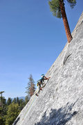 Rock Climbing Photo: Scott Perry of Santa Barbara leads the first pitch...