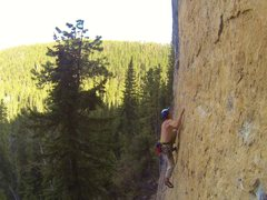 Rock Climbing Photo: Reggie climbing a route at Big Picture Gully