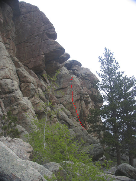 "The well protected face climb ""Aid Line for Free""."