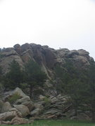 Rock Climbing Photo: West end of the Meadow Mound offers some face clim...