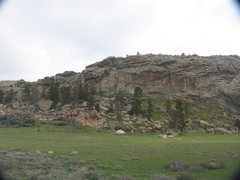 Rock Climbing Photo: The central portion of the Meadows Mound offers so...