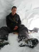 Rock Climbing Photo: Snow cave