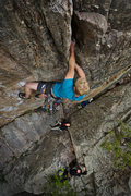 Rock Climbing Photo: Tom Wright in the business, Supremacy Crack, Eldor...